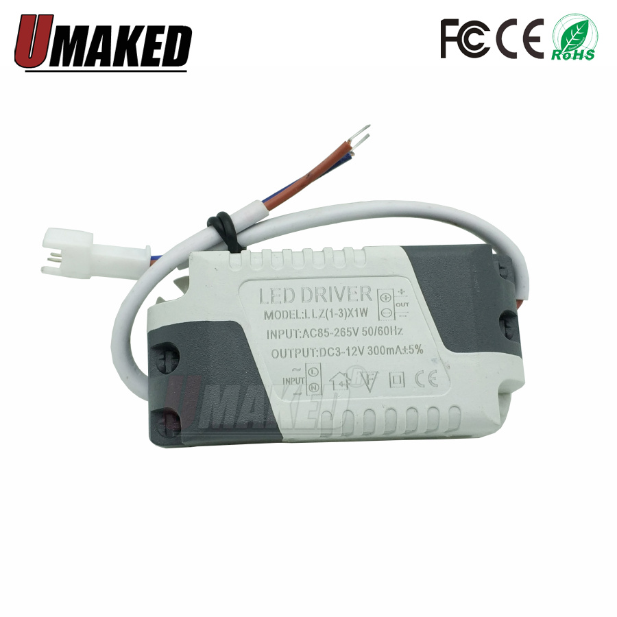 LED Driver 8-12W Constant Current 300mA DC Connector External Power Supply LED Ceiling Lamp Transformer High Power AC 85-265V 8-12W