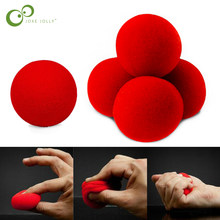10 pcs/lot 4.5cm New Fashion Close-Up Magic Sponge Ball Brand Street Classical Comedy Trick Soft Red Sponge Ball GYH(China)
