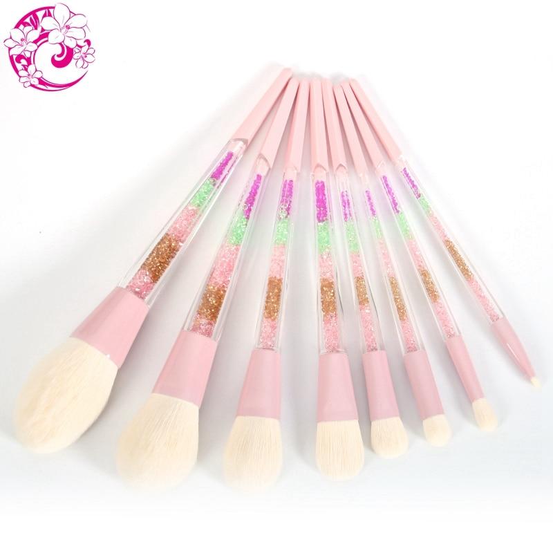 ENERGY Brand 8pcs Rainbow Makeup Brush Set Professional Make Up Brushes Colorful Handle Brochas Maquillaje Pinceaux Maquillage 8pcs professional make up brush set big