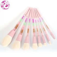 купить ENERGY Brand 8pcs Rainbow Makeup Brush Set Professional Make Up Brushes Colorful Handle Brochas Maquillaje Pinceaux Maquillage дешево