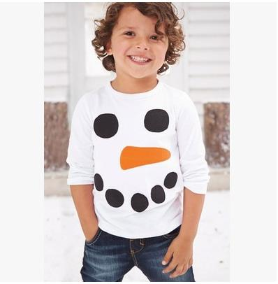 Lulukohs Children boys t shirts spring 2017 baby girl t shirts snowman baby boy clothes long sleeve brand t -shirt for boys 2018 spring autumn new girls leggings t shirt baby boy girl pants t shirts ribbed children s clothing sets baby girl clothes