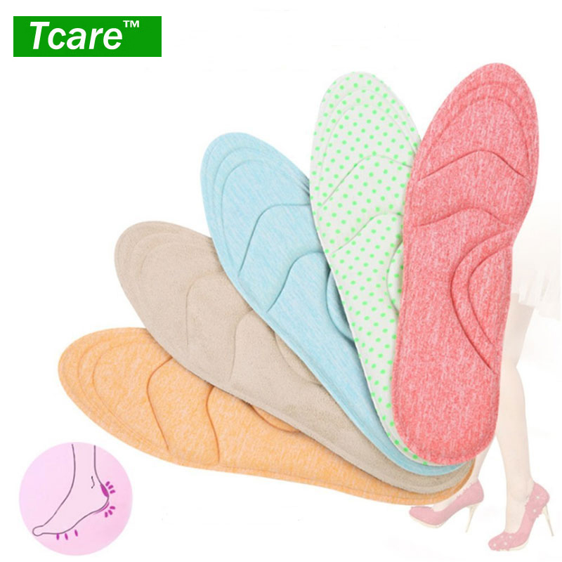 1Pair 4D Sponge Arch Supports High Heels Shoes Insoles Comfortable Orthopedic Pads for Women Ladies Massage Heel Insole Inserts