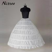In Stock 6 Hoops Ball Gown Petticoat Women Underwear For Wedding Dresses Crinoline Wedding Accessories White