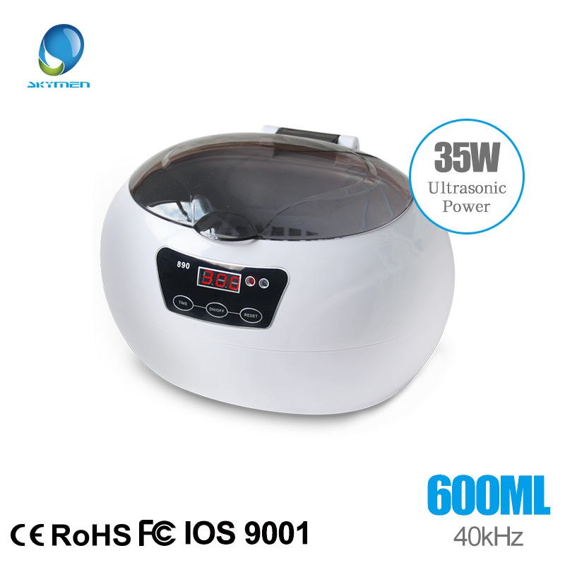 Ultrasonic Jewelry Cleaner Cleaning Machine Basket Jewelry Watches Dental 0.6L 35W 42kHz Ultrasound Cleaner Mini Ultrasonic Bath