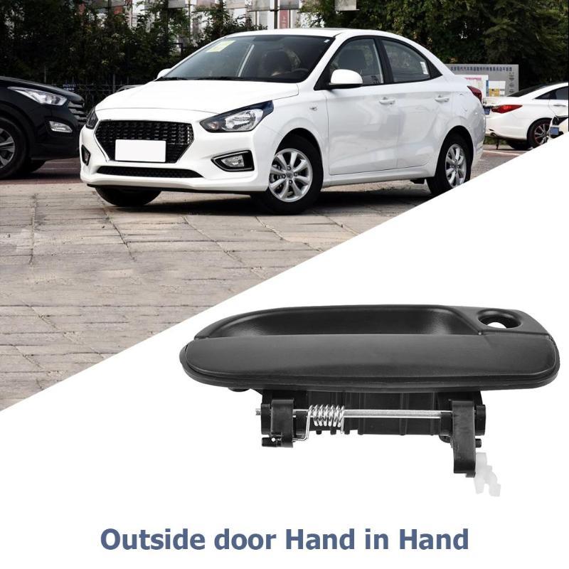 אביזרי רכב 1pc רכב חיצוני ידית הדלת 82650-25000 82660-25000 83650-25000 83660-25000 עבור אביזרי רכב יונדאי אקסנט DODGE / ורנה (5)