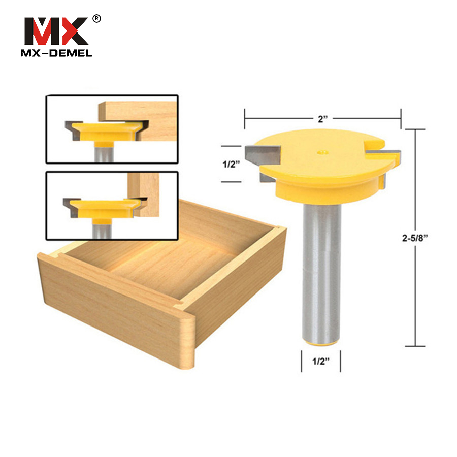 MX-DEMEL 1PC 1/2'' Shank Milling Cutter Straight Rail & Stile Router Bit Woodworking Chisel Cutter Tools Power Tools high grade carbide alloy 1 2 shank 2 1 4 dia bottom cleaning router bit woodworking milling cutter for mdf wood 55mm mayitr