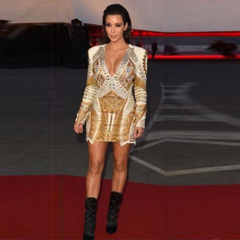 Popular Kim Kardashian Long Sleeve Cheap