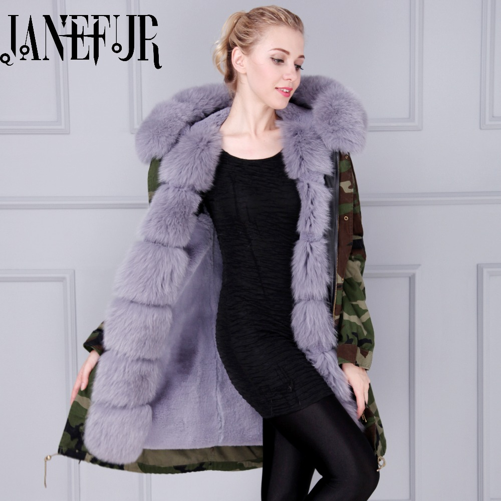 Top quality winter jacket mr mrs furs parka coats natural faux fur lined & large real fox fur collar hood red fur parka