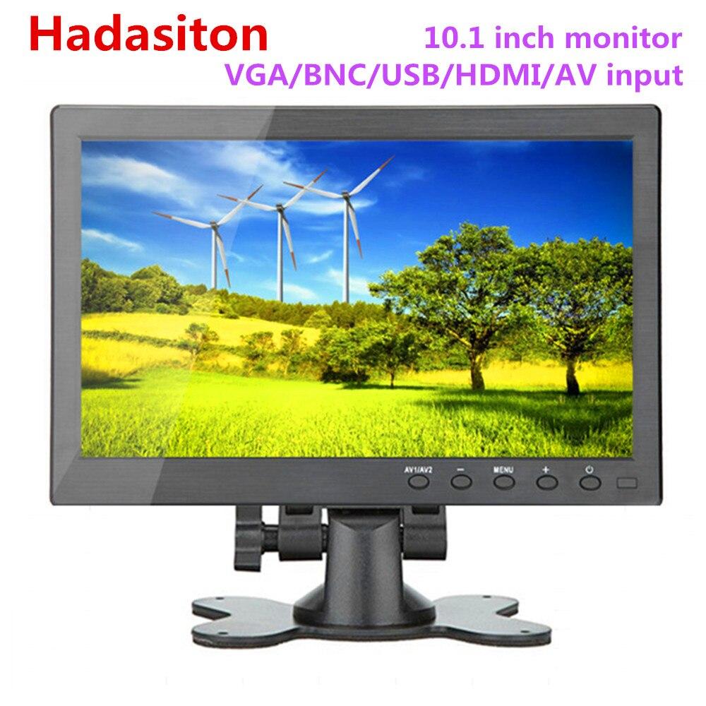 10 1 HD 1024 600 color screen LCD monitor Car monitor MP5 player Home monitor PC
