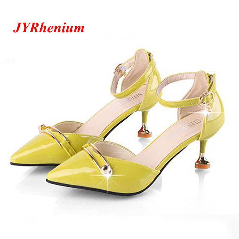 JYRhenium 2018 New Elegant Women Pumps High Heels Rhinestone Wedding Pumps Brand Design Pointed Toe High Heels Shoes Plus Size plus size 43 44 45 46 47 48 new high quality pu pointed toe elegant women shoes sequined design spike heel pumps free shipping