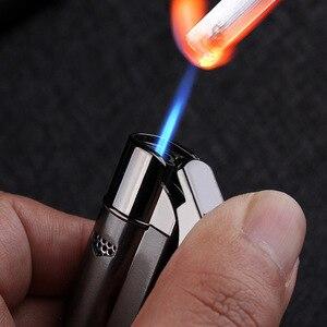 Image 5 - Gorąca taśma Jet butan zapalniczka do cygar latarka rura Turbo zapalniczka papieros 1300 C ogień wiatroodporny bez gazu