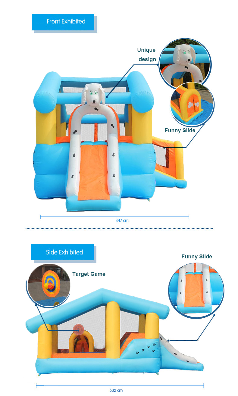 HTB1EbmlPFXXXXbbXVXXq6xXFXXXM - Mr. Fun Kids Dog Bouncy Inflatable Bounce House Big Slide Combo with Blower