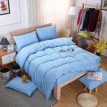 Sky Blue Color Bedclothes Home Textile 4pcs King Size Bedding Sets Pretty Duvet Cover Pillowcases Pillow Covers