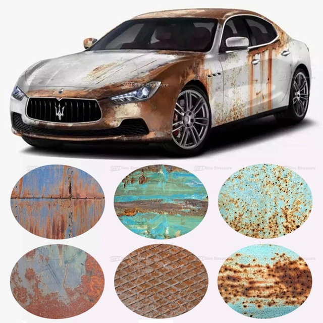 Rust car sticker rusted vinyl rusty edition car sticker cover graphic decal wraps rust auto wrapping