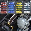 30 шт./компл. хромированный Пластилин мотоциклетный винт гайка крышка Гайка Болт украшение для Yamaha Kawasaki Honda
