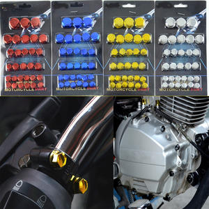 30pcs/set Chrome Plating Plasti Motorcycle Screw Nut Cover Cap Nut Bolt Decoration For