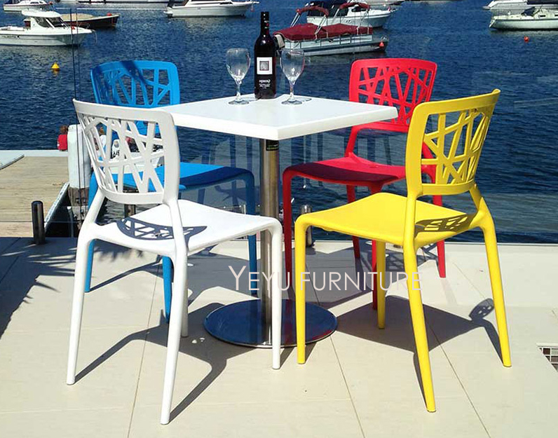 Modern Design Stackable Plastic Dining Chair Stack fashion outdoor