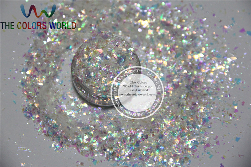 White with  Colorful Ice white Mylar Sheet Flakes  for nail decoration and other art DIY decoration корм tetra tetramin xl flakes complete food for larger tropical fish крупные хлопья для больших тропических рыб 10л 769946