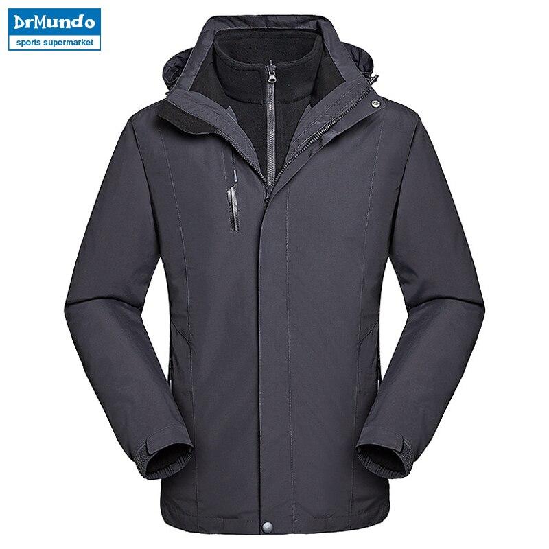 2018 veste de neige hommes imperméable veste de Ski hiver coupe-vent Ski costume thermique vêtements de Ski polaire montagne randonnée veste vêtements
