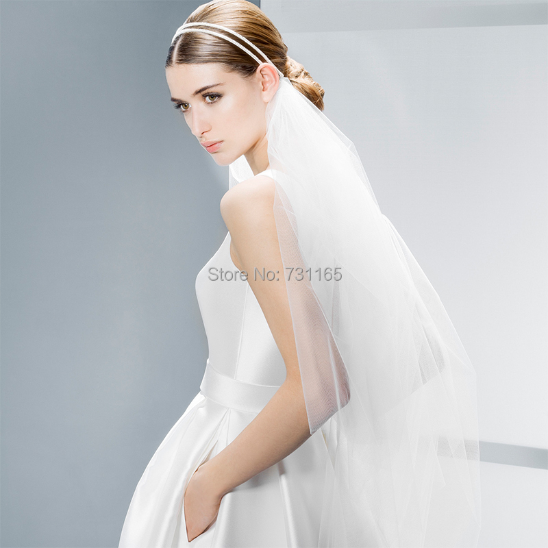 Free Shipping A line Jewel Neck Elegant Wedding Gown With Pockets ...