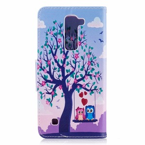 Image 3 - Case Voor Coque Lg K8 & Lg K7 Telefoon Tas Cartoon Panda Vlinder Pu Flip Leather Case Voor Lg K8 lte K350E K350N Cover Cases