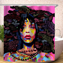 1 Pcs African Girl Shower Curtain Eco-friendly Waterproof Bathroom Bath Products Curtains