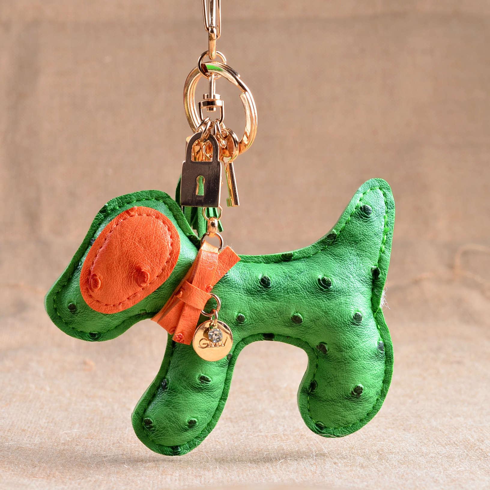 ტყავის Keychain ძაღლი Pu Tassel Cute Poodle Key - მოდის სამკაულები