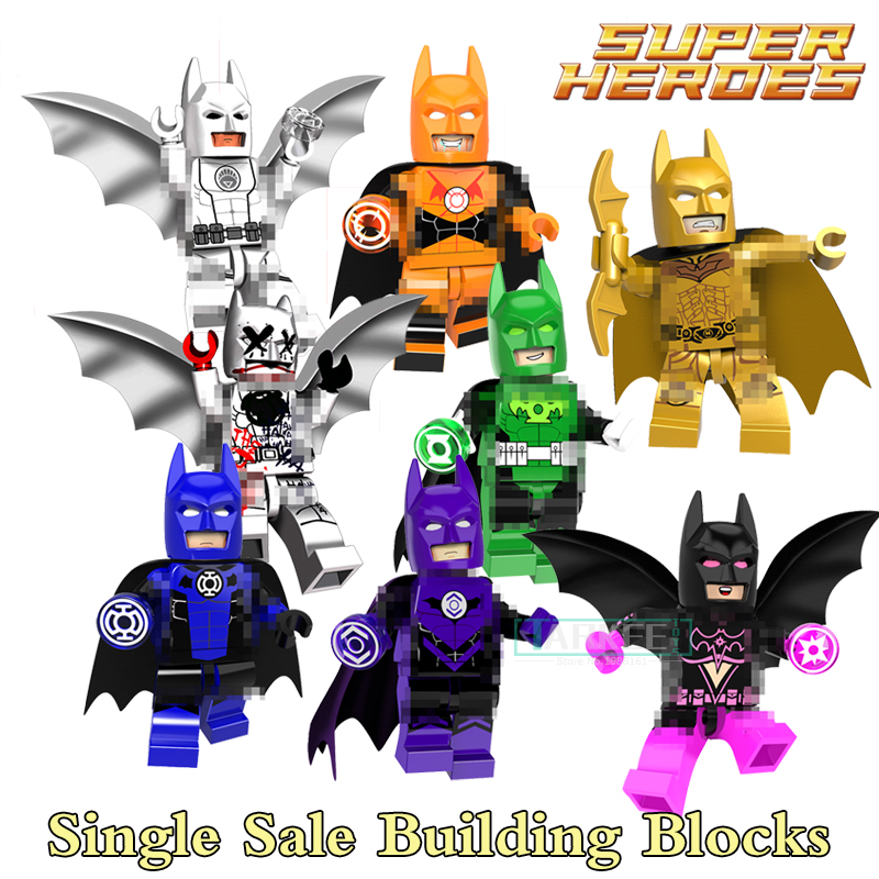 Building Blocks Star Sapphire Gold Batman Indigo Tribe Batman Super Heroes Star Wars Bricks Kids DIY Toys Hobbies PG8076 Figures building blocks the walking dead figures rick negan carl daryl star wars super heroes set assemble bricks kids diy toys hobbies