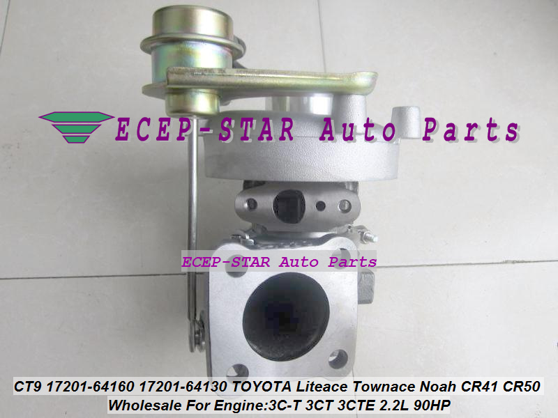 Free Ship CT9 17201-64160 17201 64160 1720164160 Turbo Turbocharger For <font><b>TOYOTA</b></font> Liteace Townace Lite Town 3C-T <font><b>3CT</b></font> 3CTE 2.2L 90HP image