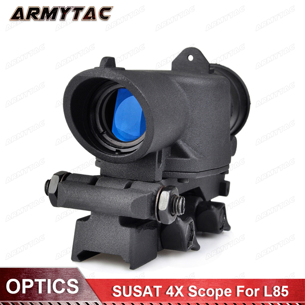 New optics SUSAT 4X Riflescope For L85 Series Sight Rifle Scope Quick Detach Weaver Mount for Hunting st3038 shoot thing xwxs l85 susat iron 4x32 optical sight rifle shotgun scope quick detach for airsoft weaver mount