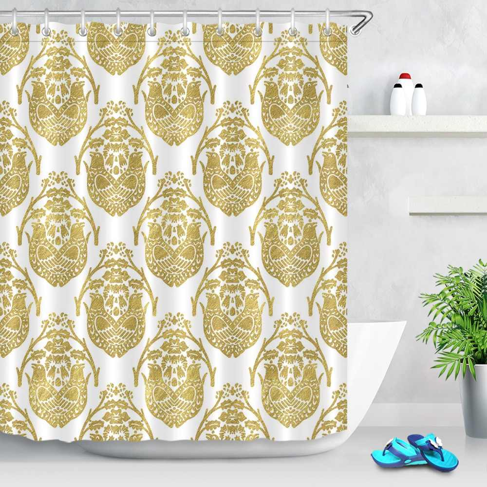 "Egyptian Golden Pharaoh Shower Curtain Hooks Bathroom Waterproof Fabric 72X72/"""