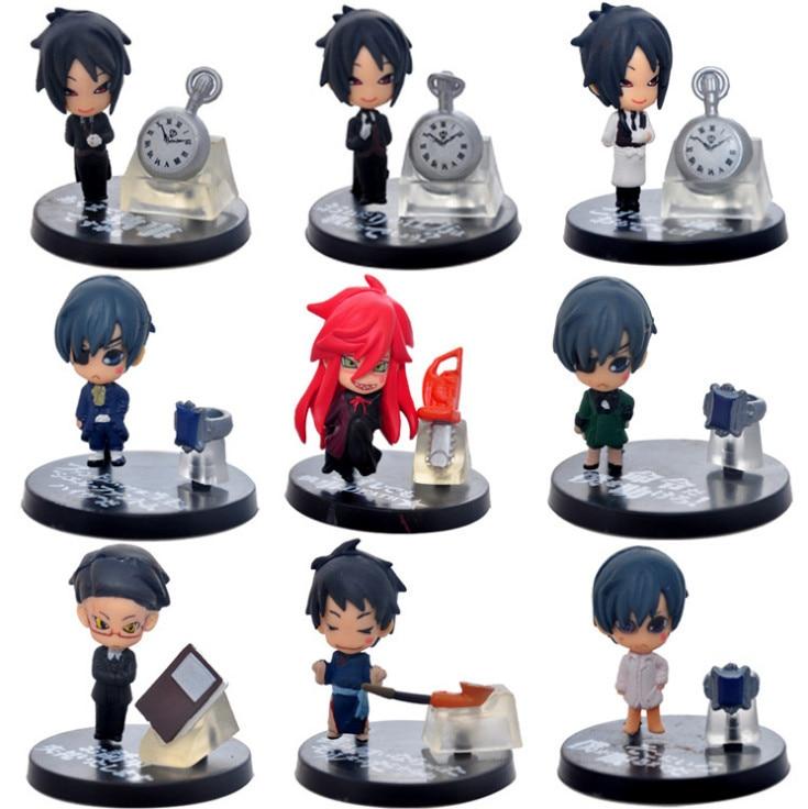 High Quality 9PCS PACK Japan Anime Kuroshitsuji Black Butler