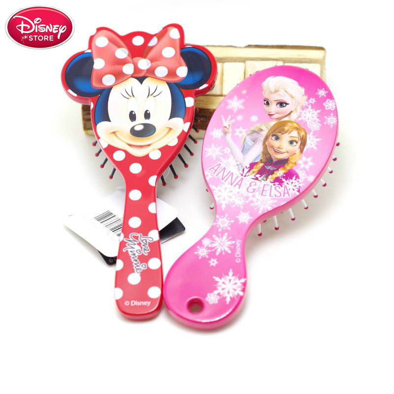 Disney Frozen Comb For Girls Princess Minnie Mouse Hair Brushes Hair Care Baby Girl Care Mickey Hair Comb Disney Toys