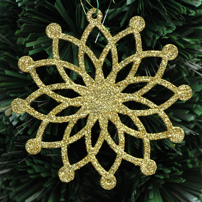 1 PC Gold Powder Colorful Flower Christmas Tree Decorations 12X12MM Xmas Tree Present Adornments DIY Party Product Accessories