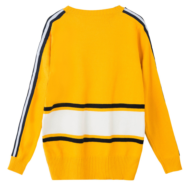 HZLLHX Heavy end tiger Embroidered Sweater dark green yellow 2 ...