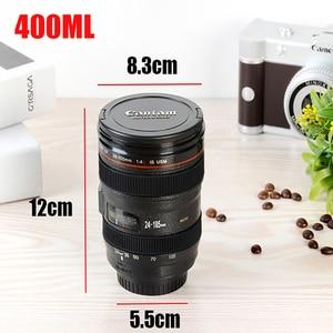 Image 2 - New Caniam SLR Kamera Objektiv 24 105mm Maßstab 1:1 Kunststoff Kaffee Tee BECHER 400ML Kreative Tassen Und becher Mit Deckel M102 BECHER 09