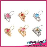 Original Bandai Sailor Moon 20th Anniversary Die Cast Ring Charm Gashapon Set Of 6 PCS
