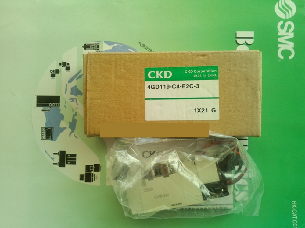 Japan CKD valve pneumatic valve solenoid valves 4GD119-C4-E2C-3 DC24V pneumatic solenoid valve 2 positions 5way vf series pneumatic elemets vf5220 solenoid valves 3 8 rih brand made in china