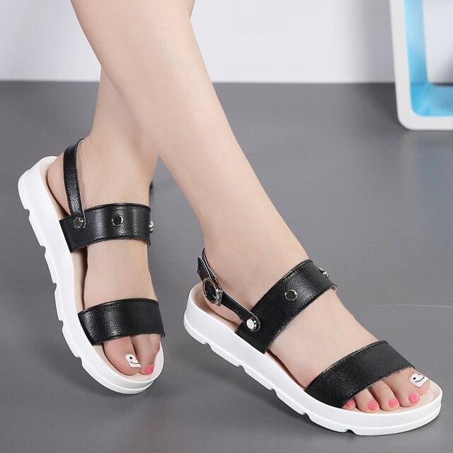 Fashion Damens Gladiator Sandales Summer Rivet Beach Platform Platform Beach Slippers b91535