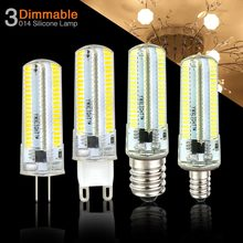 E14 LED Lamp G4 G9 G8 Dimmable Light E17 E11 E12 Home Bulb AC 220V 110V Chandelier 3014SMD 152leds bombillas led Crystal decor()