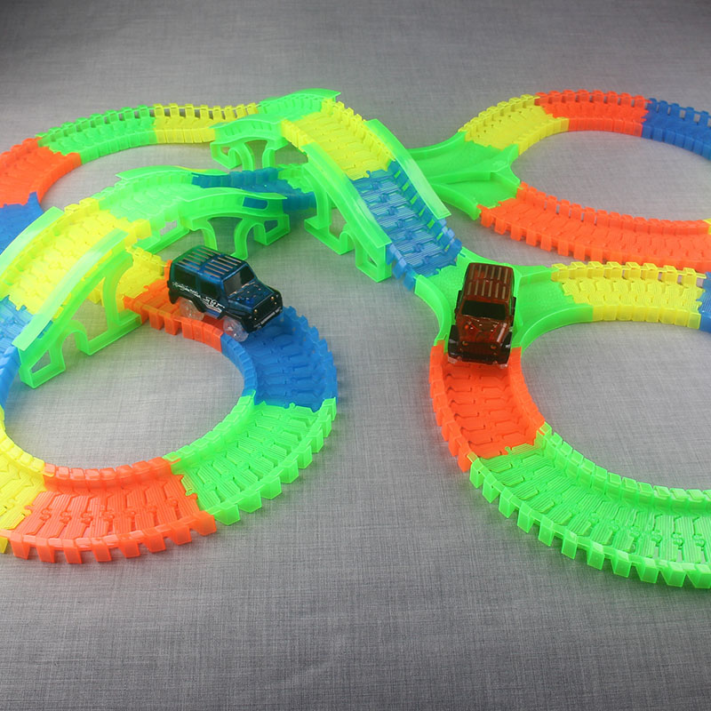 300150-PCS-Bend-Flexible-Curve-Slot-DIY-Track-Toy-Set-with-glows-in-the-dark-Track-LED-light-Racing-Car-Toys-for-children-kids-2