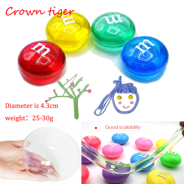 Crystal SLIME DIY transparent clear slime Putty antistress M Jelly Mud glue Hand gum Polyer clay LIZUN plasticine kids adult toy