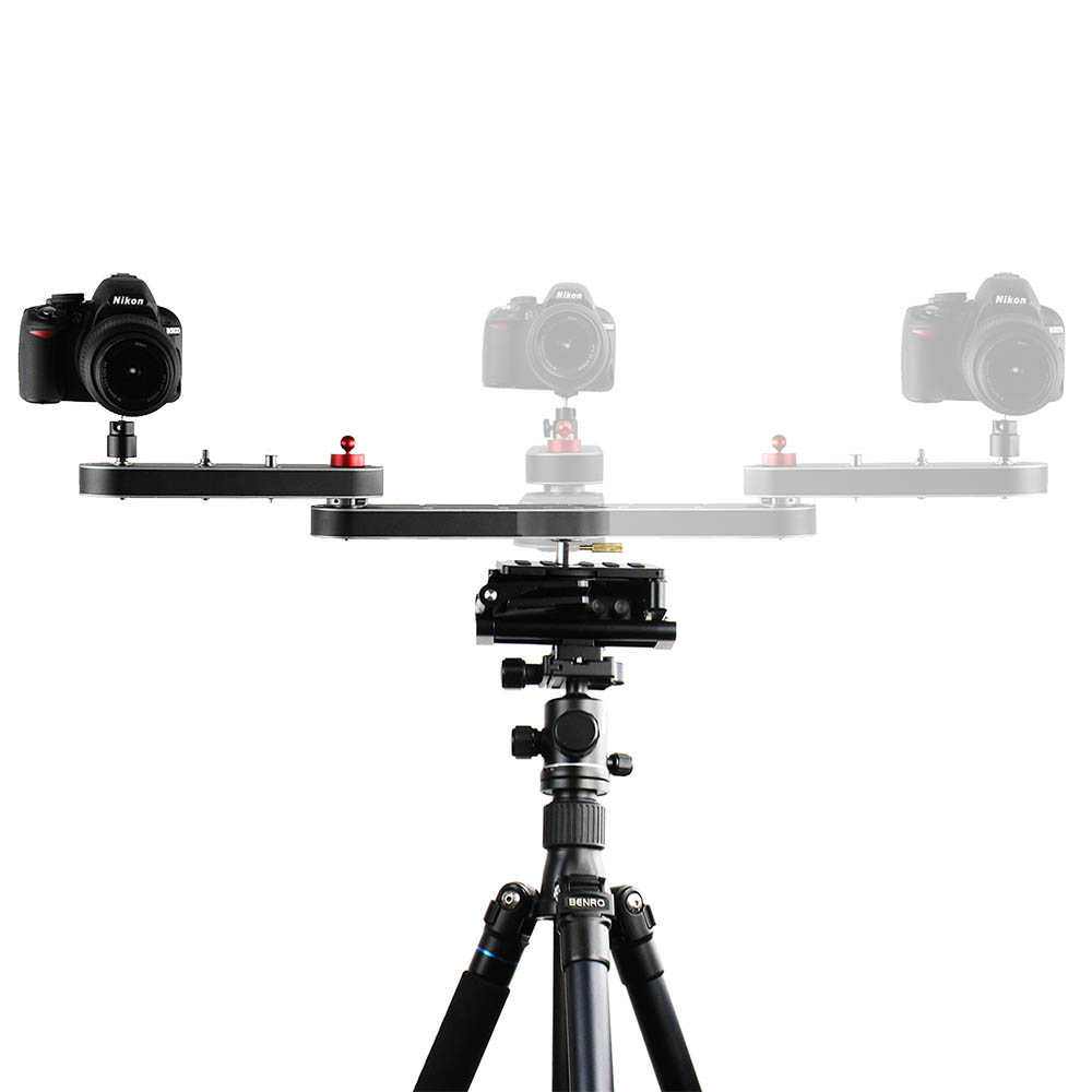 Camera Slider Rail Track Dolly with Panning and Linear Motion Extends Up to 4x Distance for DSLR Cameras Smartphones ye 5d2 super mute 3 wheel truck dolly slider skater for dslr camera black