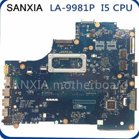 SHELI original LA 9981P motherboard For Dell 15R 3537 5537 Laptop motherboard tested mainboard I5 CPU