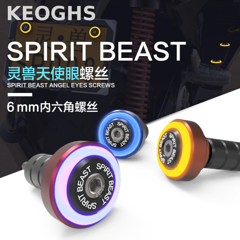 Keoghs Motorcycle Angle Eye Screws With Led Light For License Plate Frame Scooter Pedal Car Motorbike Yamaha Honda Kawasaki keoghs real adelin 260mm floating brake disc high quality for yamaha scooter cygnus modify