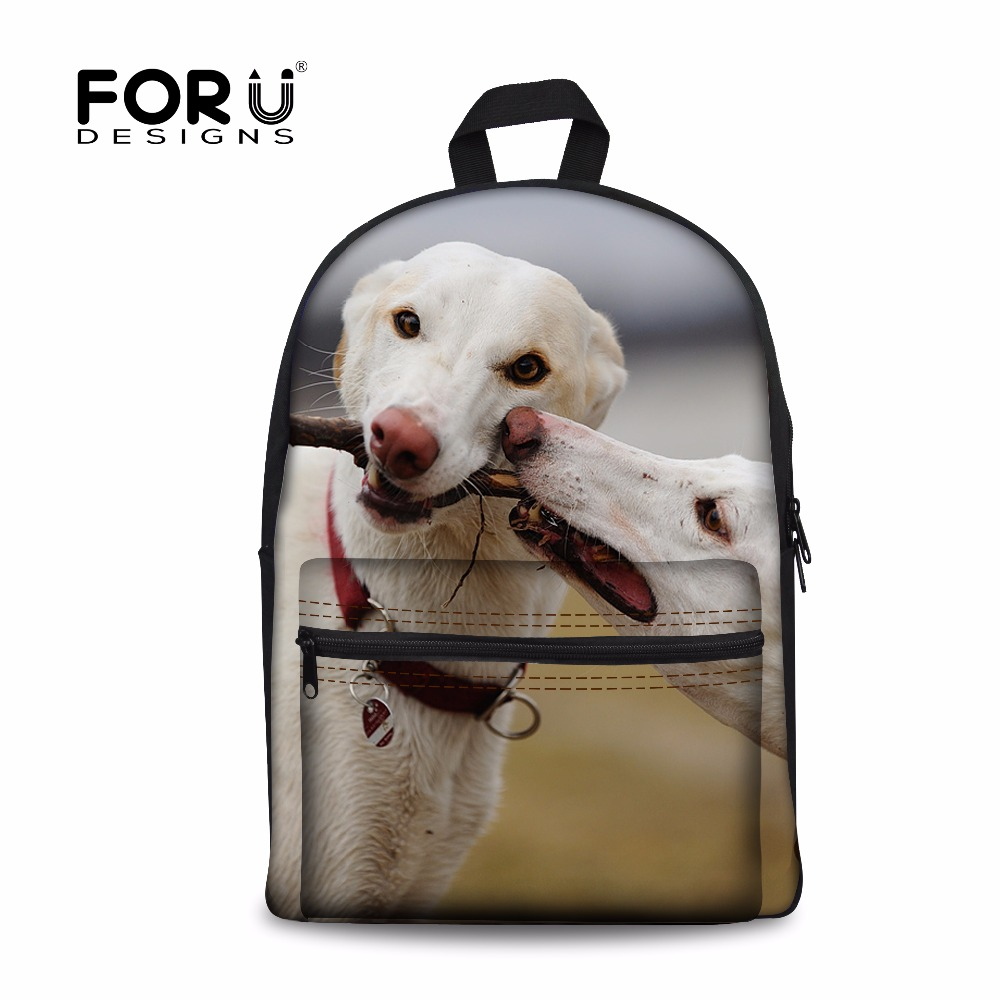 FORUDESIGNS 2018 Fashion Women Shoulder Backpack 3D Greyhounds Woman Travel Backpacks Casual School Book Bags Laptop Bag Mochila