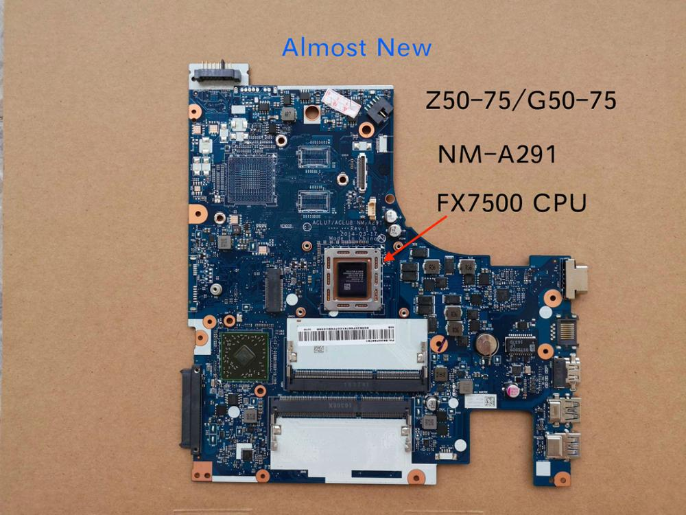 Free Shipping For Lenovo Z50-75 G50-75 Notebok Motherboard ACLU7 ACLU8 NM-A291 Mainboard Placa Fx7500
