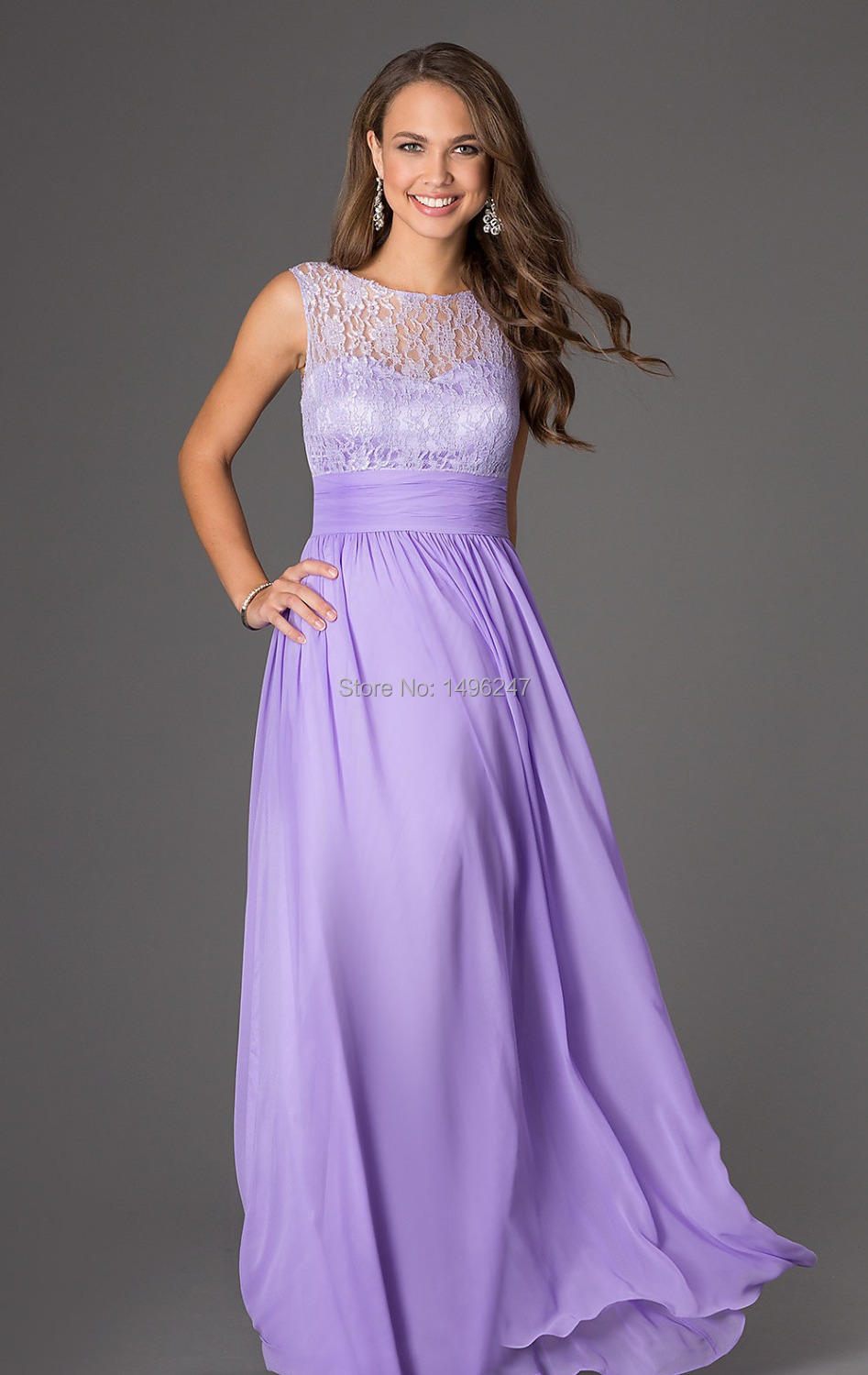 High quality long lavender bridesmaid dress buy cheap long fashionable vintage lavender lace a line long bridesmaid dresses open back see through wedding party gown ombrellifo Gallery