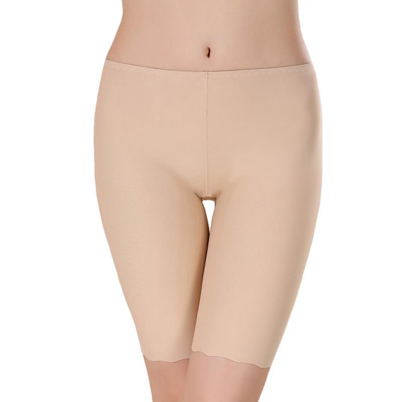 Women Safety Pants Ice Silk Boy Shorts Boxer Female Modal Briefs Panties Black Safety Short Pants XL Size Women's Intimates