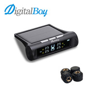 Auto 12V Car TPMS Solar Tire Pressure Monitoring Wireless Car Tyre Pressure System Real Time Alarm